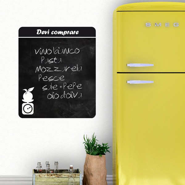 Wall Stickers: Chalkboard Shopping list Italian