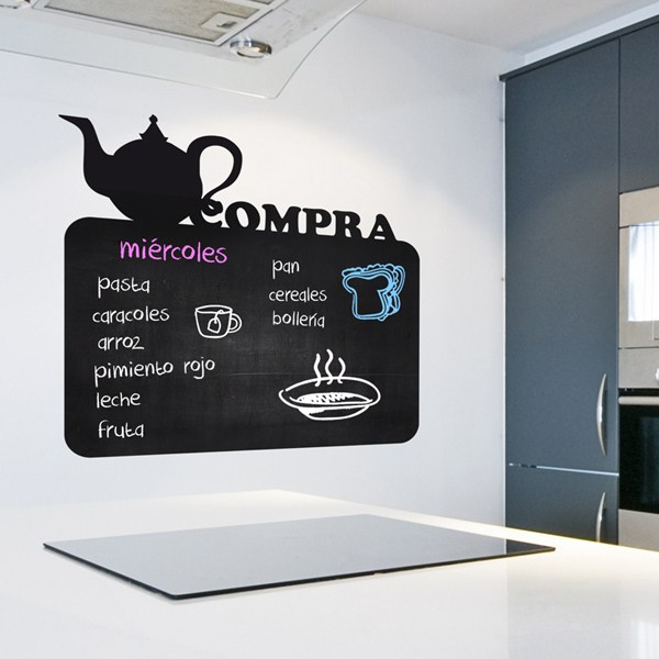 Wall Stickers: Chalkboard Teapot - Buy