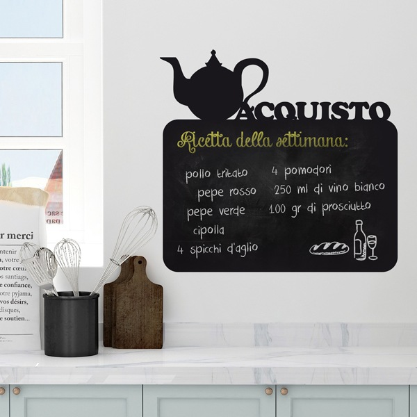 Wall Stickers: Chalkboard Teapot - Buy Italian