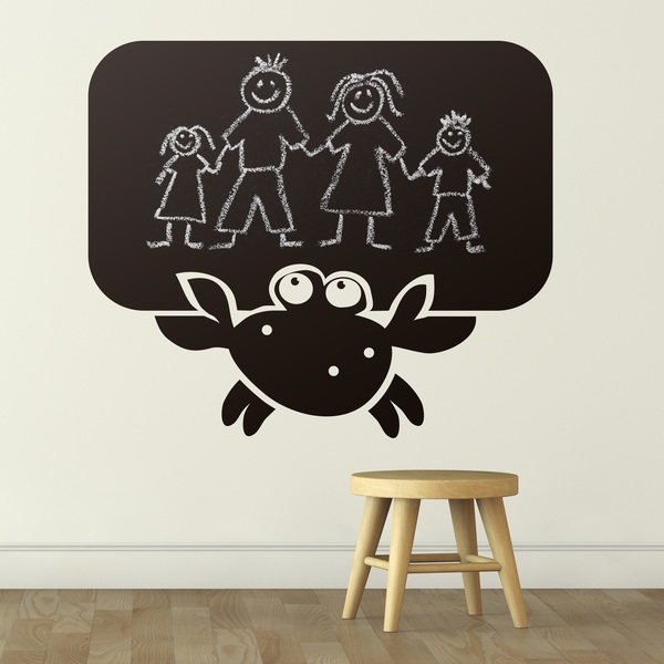 Stickers for Kids: Crab blackboard