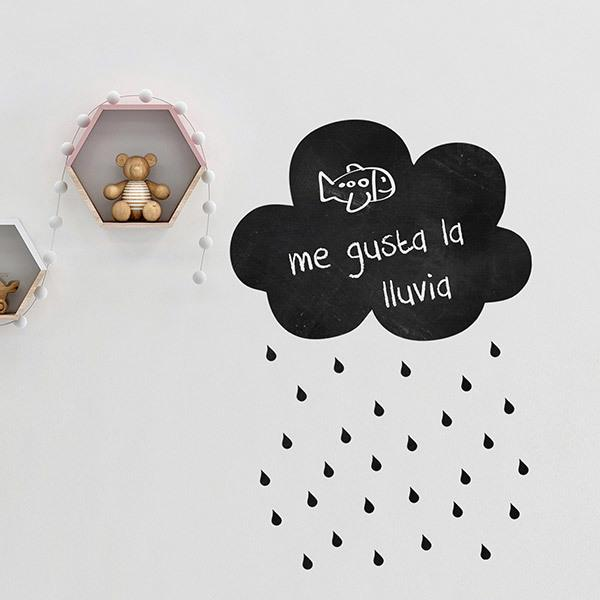 Stickers for Kids: Weekly Cloud with rain