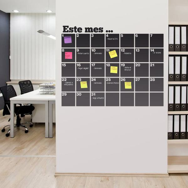 Wall Stickers: Organizer blackboard this month