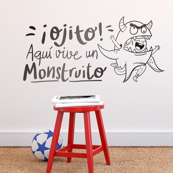 Stickers for Kids: ¡Ojito! Aquí vive un Monstruito