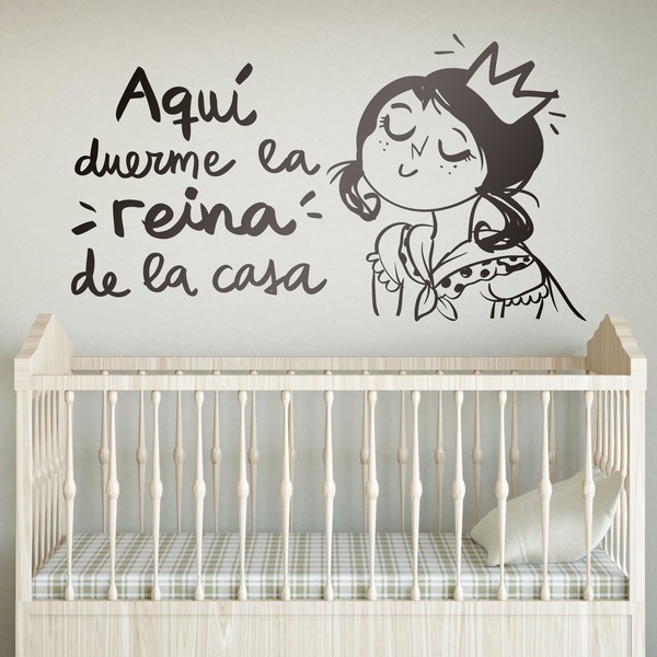 Stickers for Kids: Aquí duerme la reina de la casa