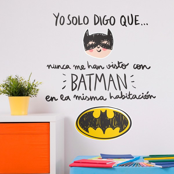 Stickers for Kids: Nunca me han visto con Batman
