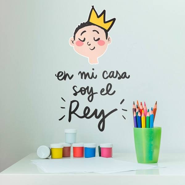 Stickers for Kids: En mi casa soy el Rey