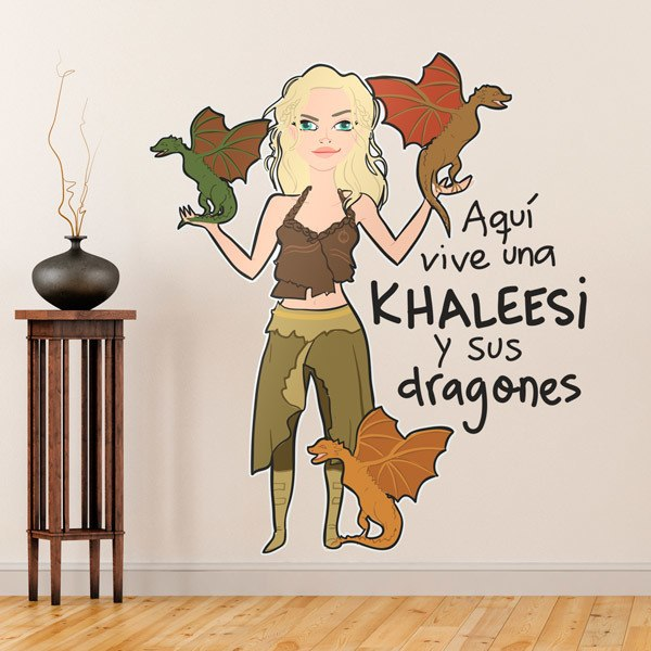 Stickers for Kids: Khaleesi and dragons