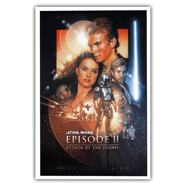 Wall Stickers: Adhesive poster Star Wars Episode II