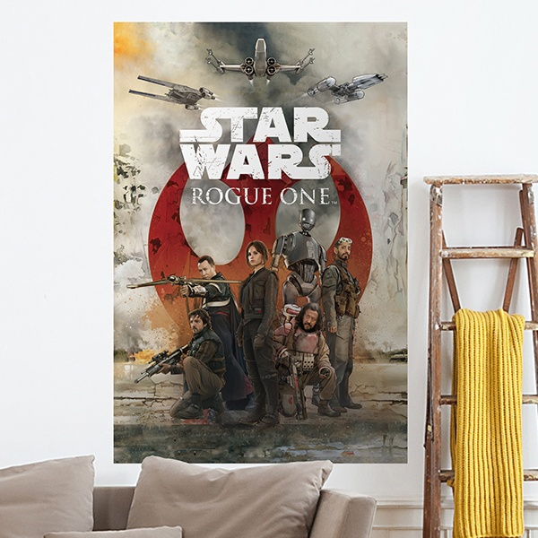 Wall Stickers: Adhesive poster Star Wars Rogue One Alliance