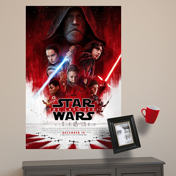 Wall Stickers: Adhesive poster Star Wars The last Jedi