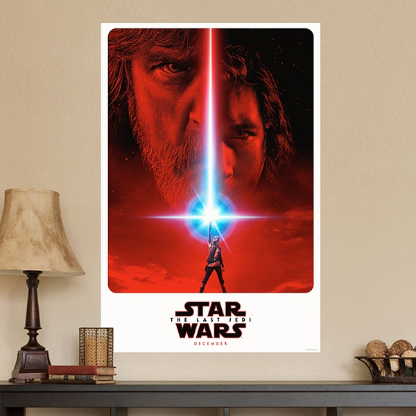 Wall Stickers: Poster Adhesive Star Wars Episode VIII