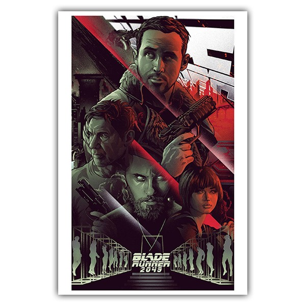 Wall Stickers: Adhesive poster Blade Runner 2049 Comic
