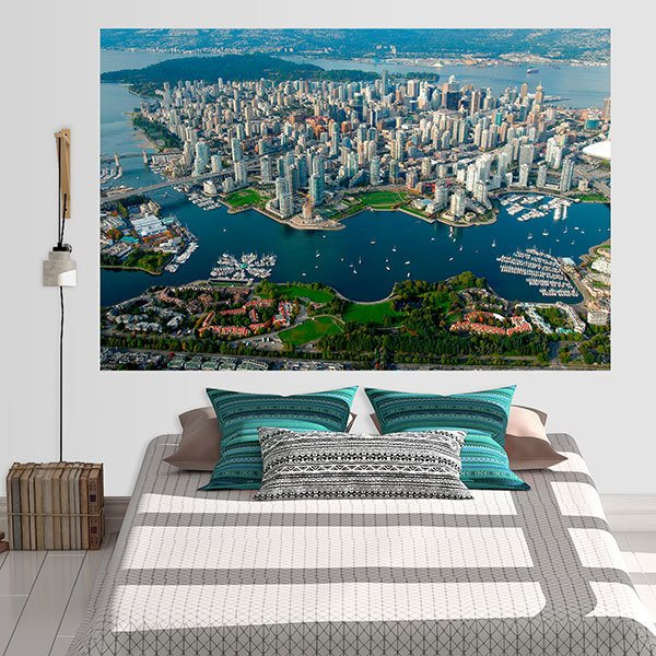 Wall Stickers: Adhesive poster Manhattan Island