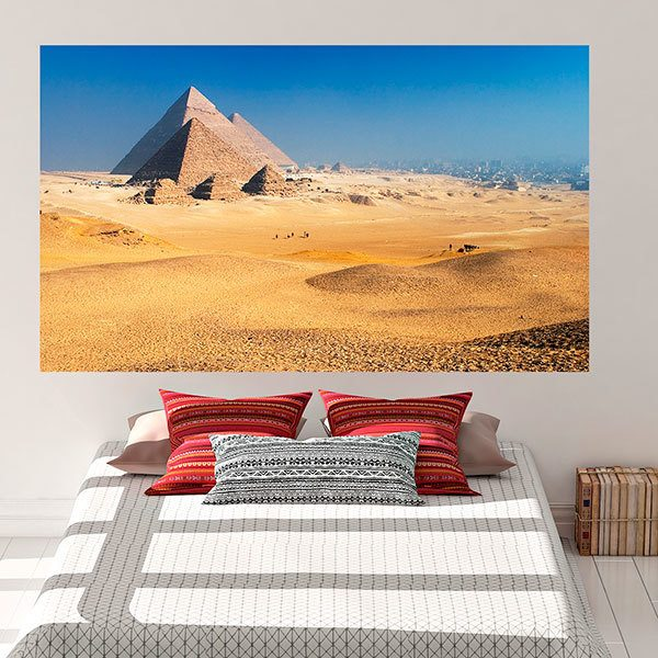 Wall Stickers: Adhesive poster Pyramids of Giza