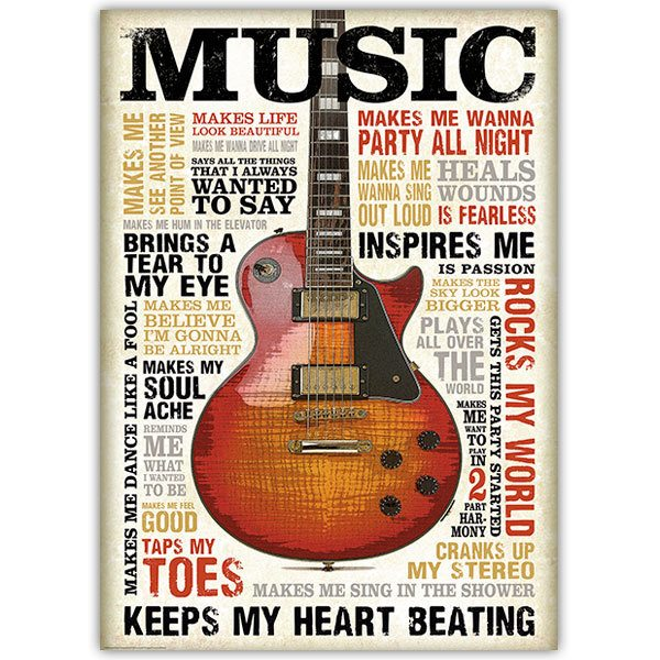 Wall Stickers: Adhesive poster Music