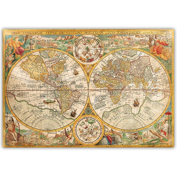 Wall Stickers: Adhesive poster World Map 1594