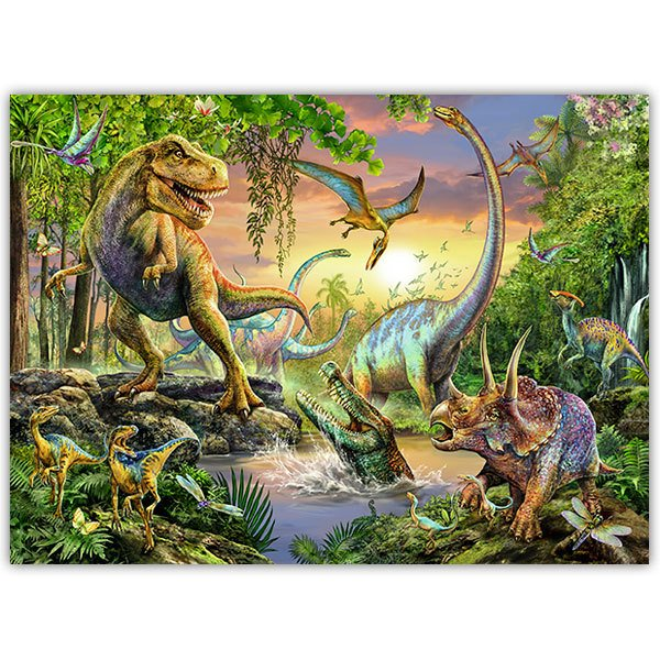 Wall Stickers: Adhesive poster Dinosaurs
