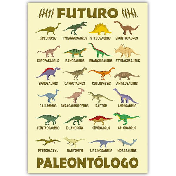 Wall Stickers: Adhesive poster Future Palaeontologist