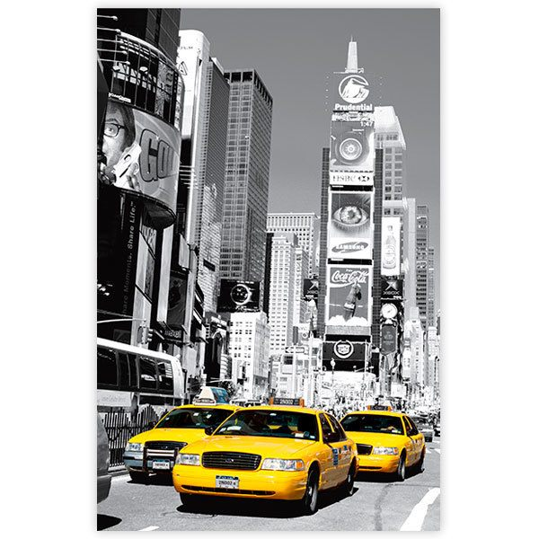 Wall Stickers: Adhesive poster Taxis in Times Square