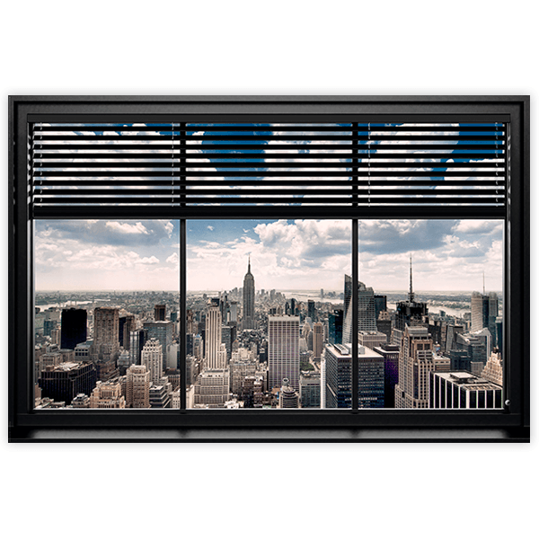 Wall Stickers: Adhesive poster Window in Manhattan