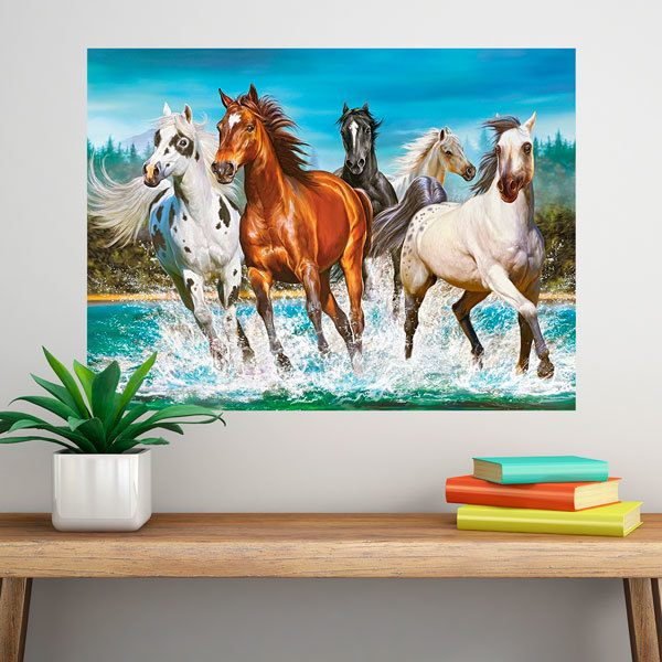 Wall Stickers: Herd of horses