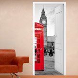 Wall Stickers: Open door London call box 3