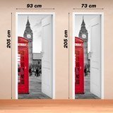 Wall Stickers: Open door London call box 4