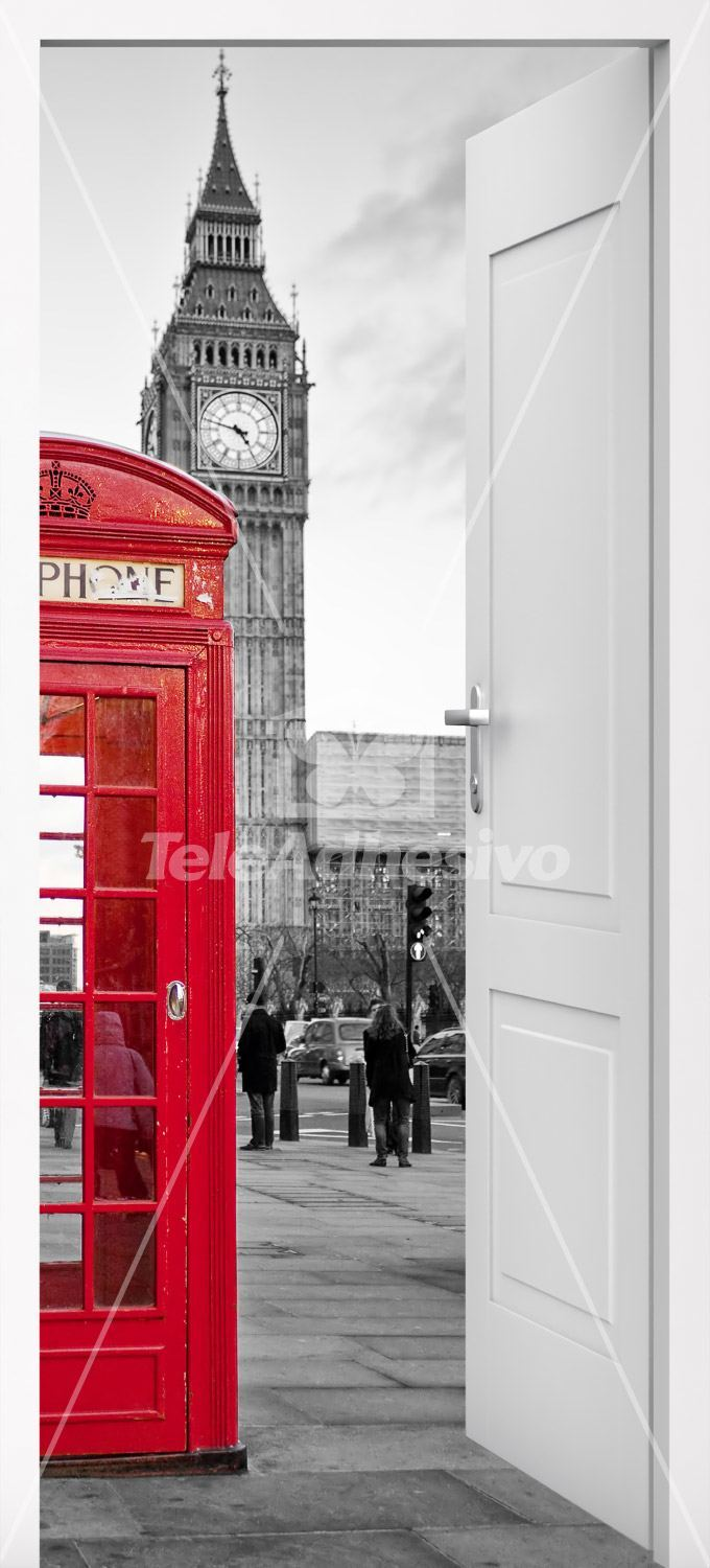 Wall Stickers: Open door London call box