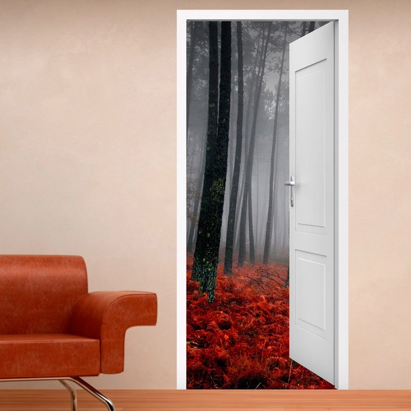Wall Stickers: Open door forest in autumn