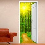 Wall Stickers: Open door path in the wood 3