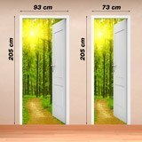 Wall Stickers: Open door path in the wood 4