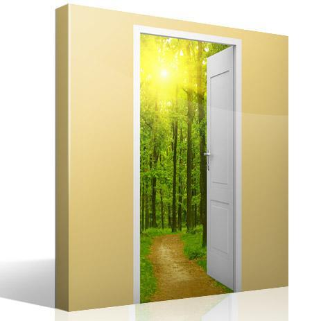 Wall Stickers: Open door path in the wood