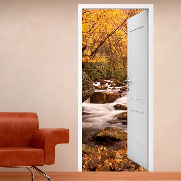 Wall Stickers: Open door spring in the forest