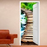Wall Stickers: Open door wooden bridge 3