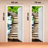 Wall Stickers: Open door wooden bridge 4