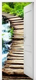 Wall Stickers: Open door wooden bridge 6