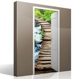 Wall Stickers: Open door wooden bridge 7