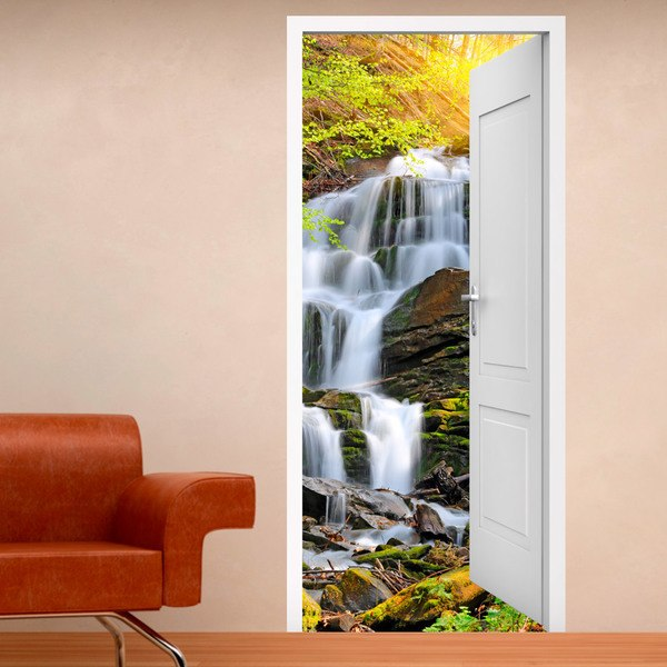 Wall Stickers: Open door waterfall