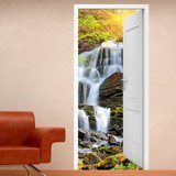 Wall Murals: Open door waterfall 2