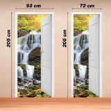 Wall Murals: Open door waterfall 3