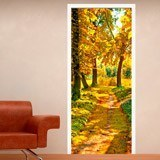 Wall Stickers: Forest path in autumn 3