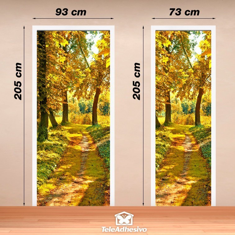Wall Stickers: Forest path in autumn