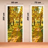 Wall Stickers: Forest path in autumn 4