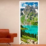 Wall Stickers: Door mountain and a lake 3