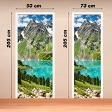 Wall Stickers: Door mountain and a lake 4