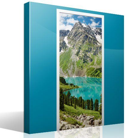 Wall Stickers: Door mountain and a lake