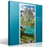 Wall Stickers: Door mountain and a lake 7