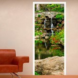 Wall Stickers: Door pond and gardens 3
