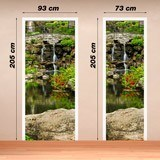 Wall Stickers: Door pond and gardens 4