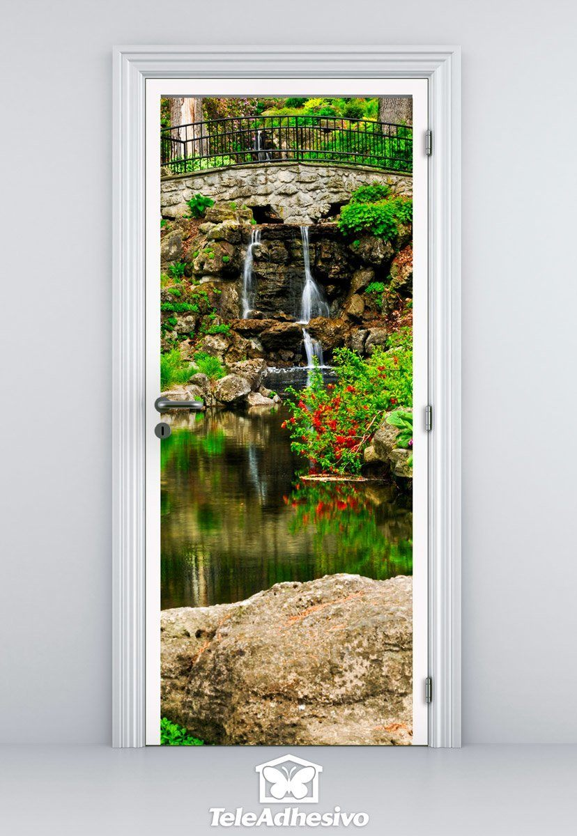 Wall Stickers: Door pond and gardens